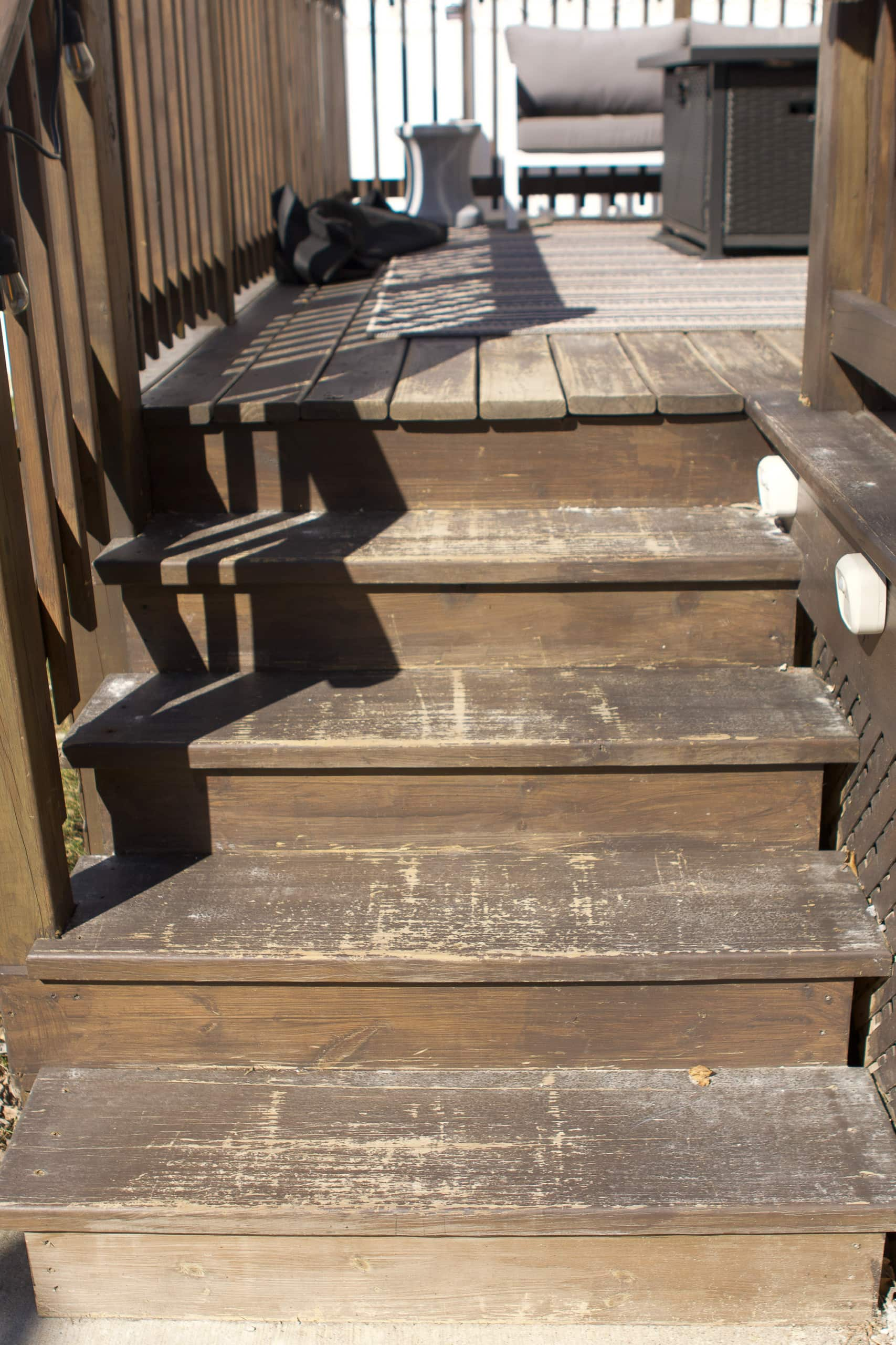 Our deck stairs