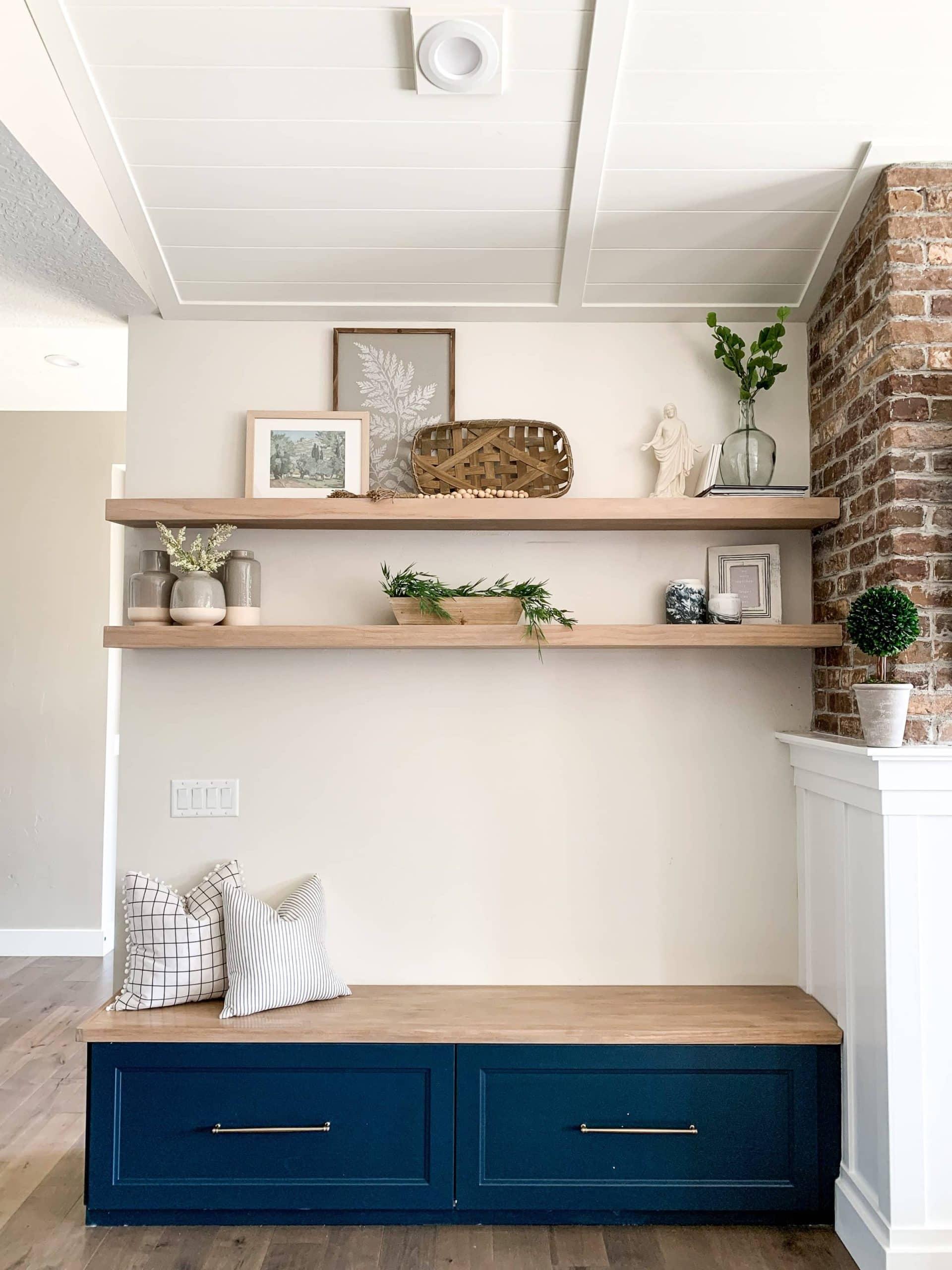 How to build oak shelves