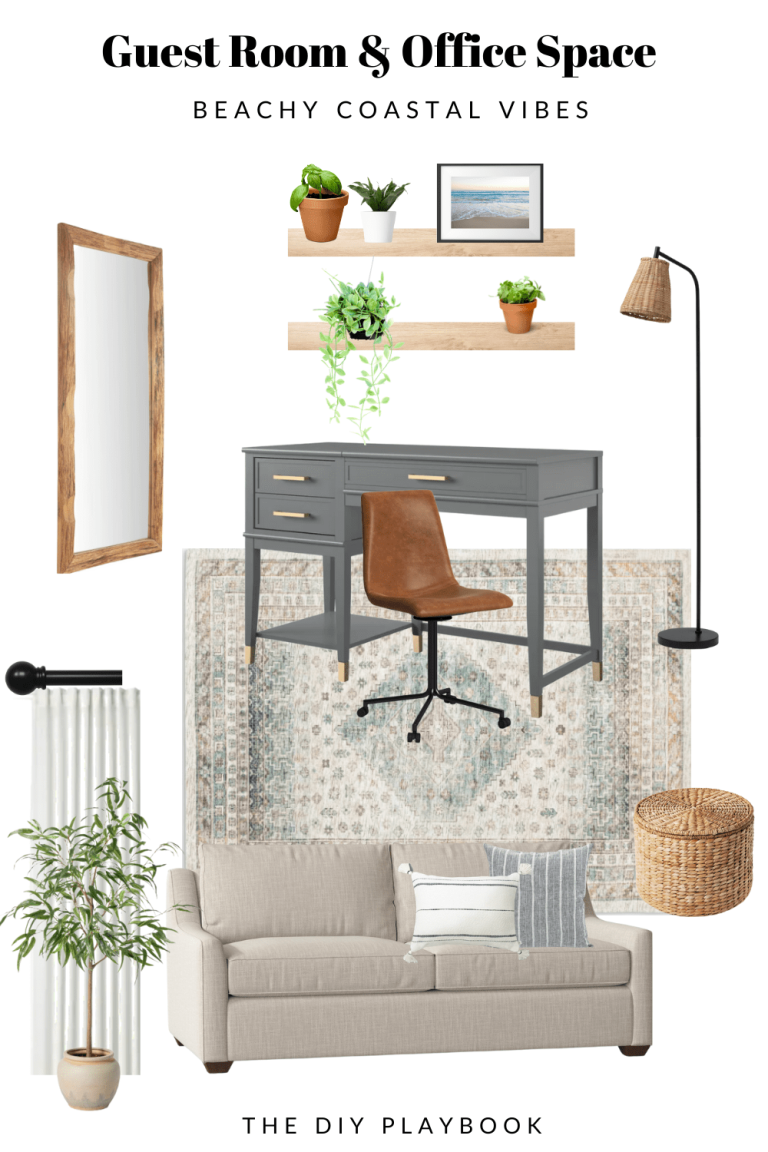 bedroom and office combo mood board