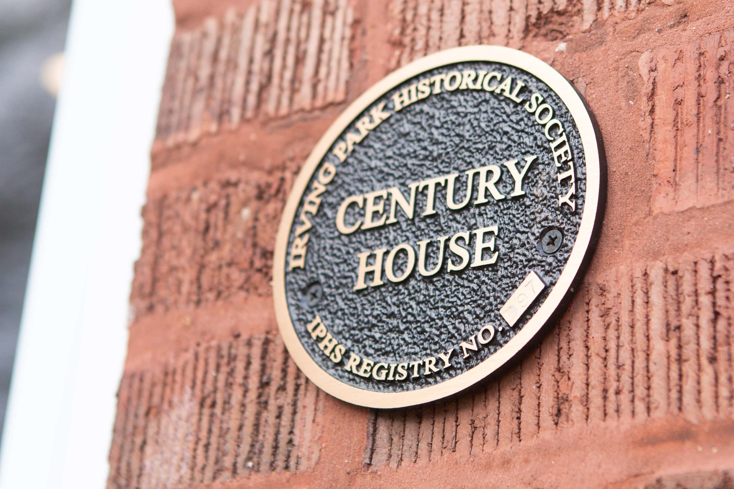 Our 100-year-old home century plaque