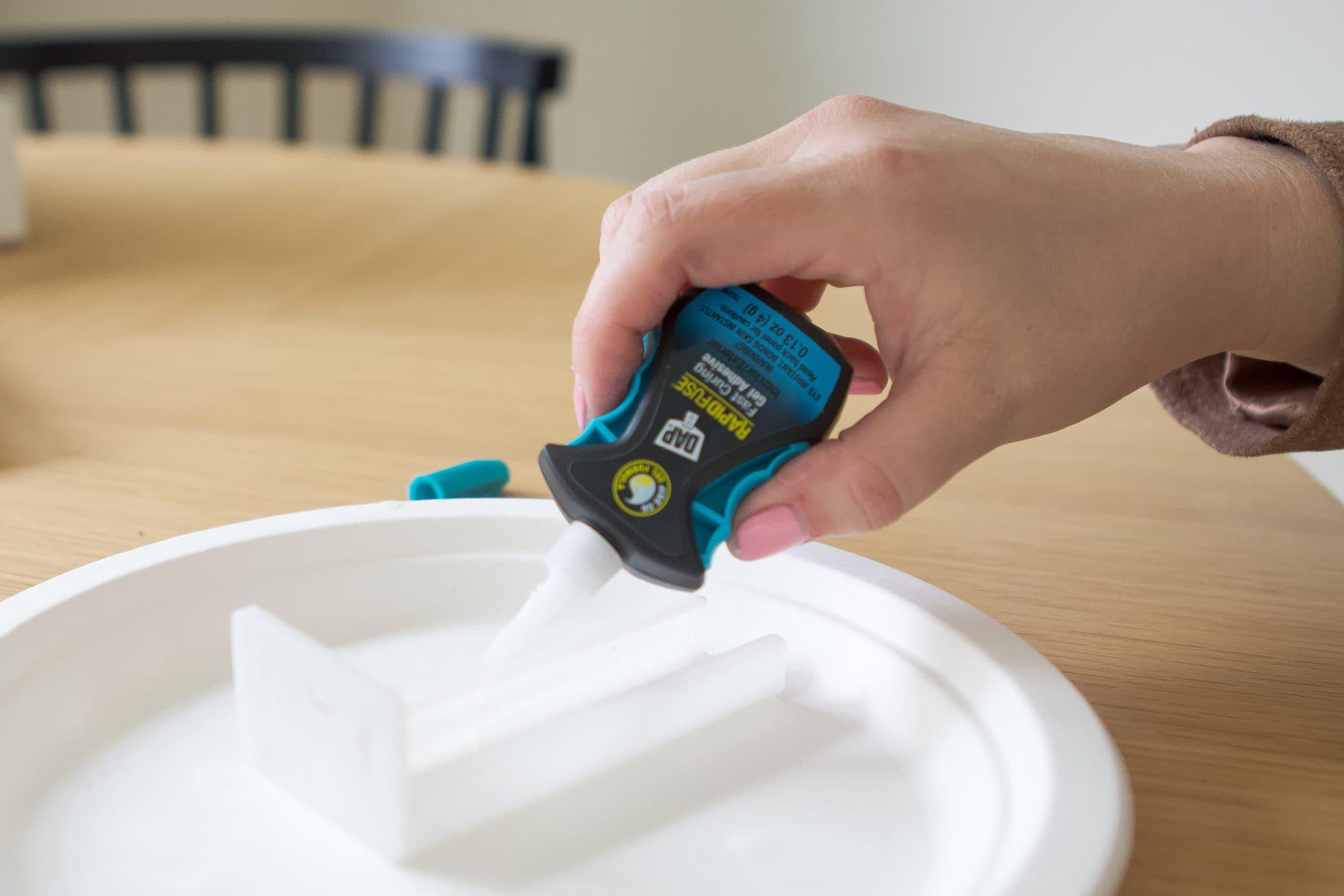 Using super glue to fix plastic