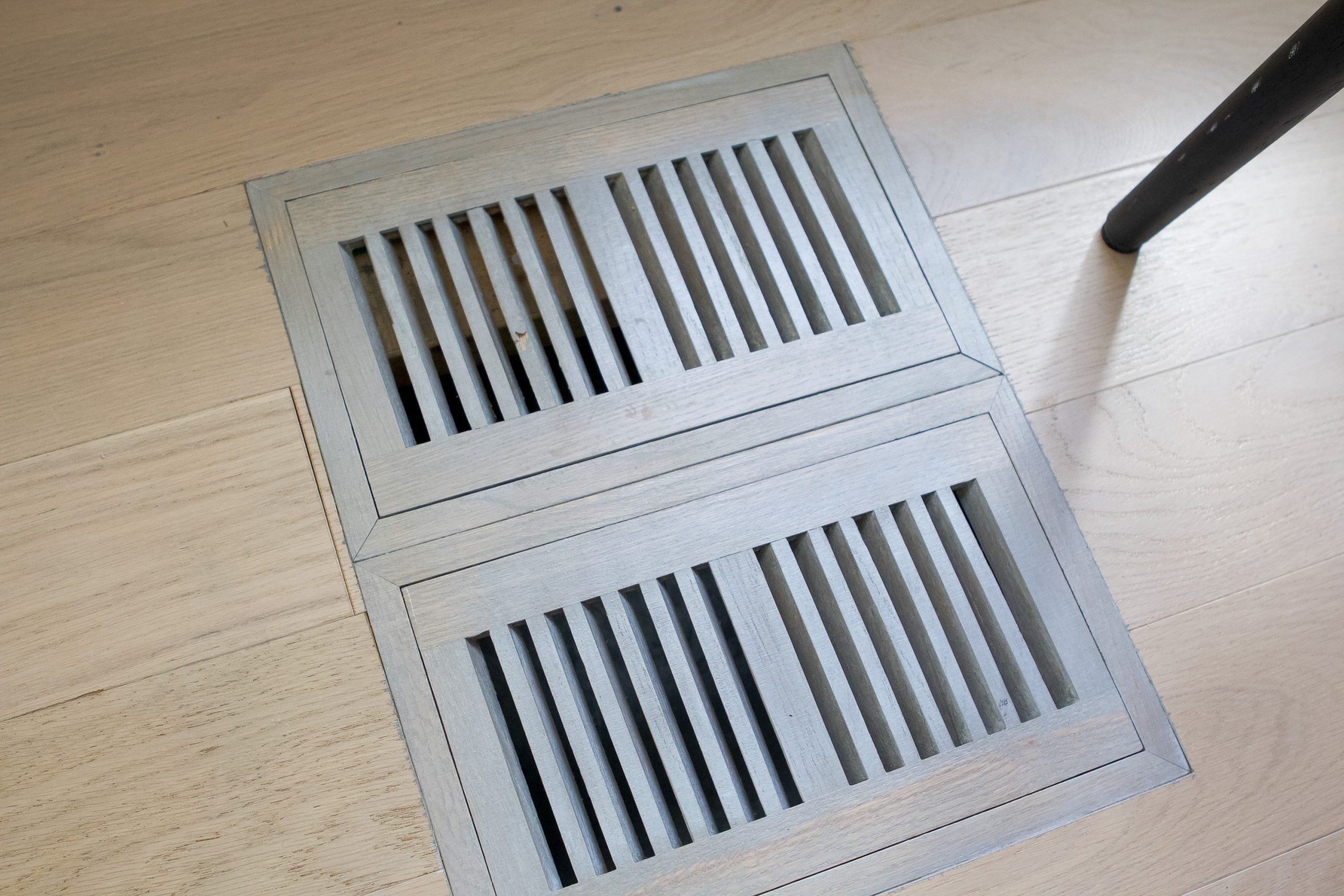 Fixing our wood floor vent with super glue