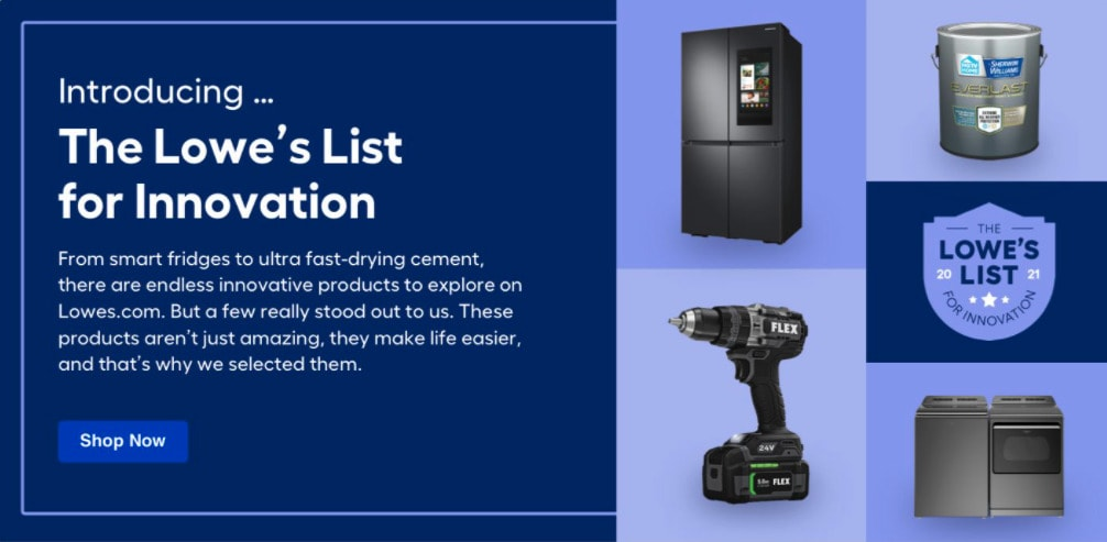 lowe's list for innovation with innovative outdoor products