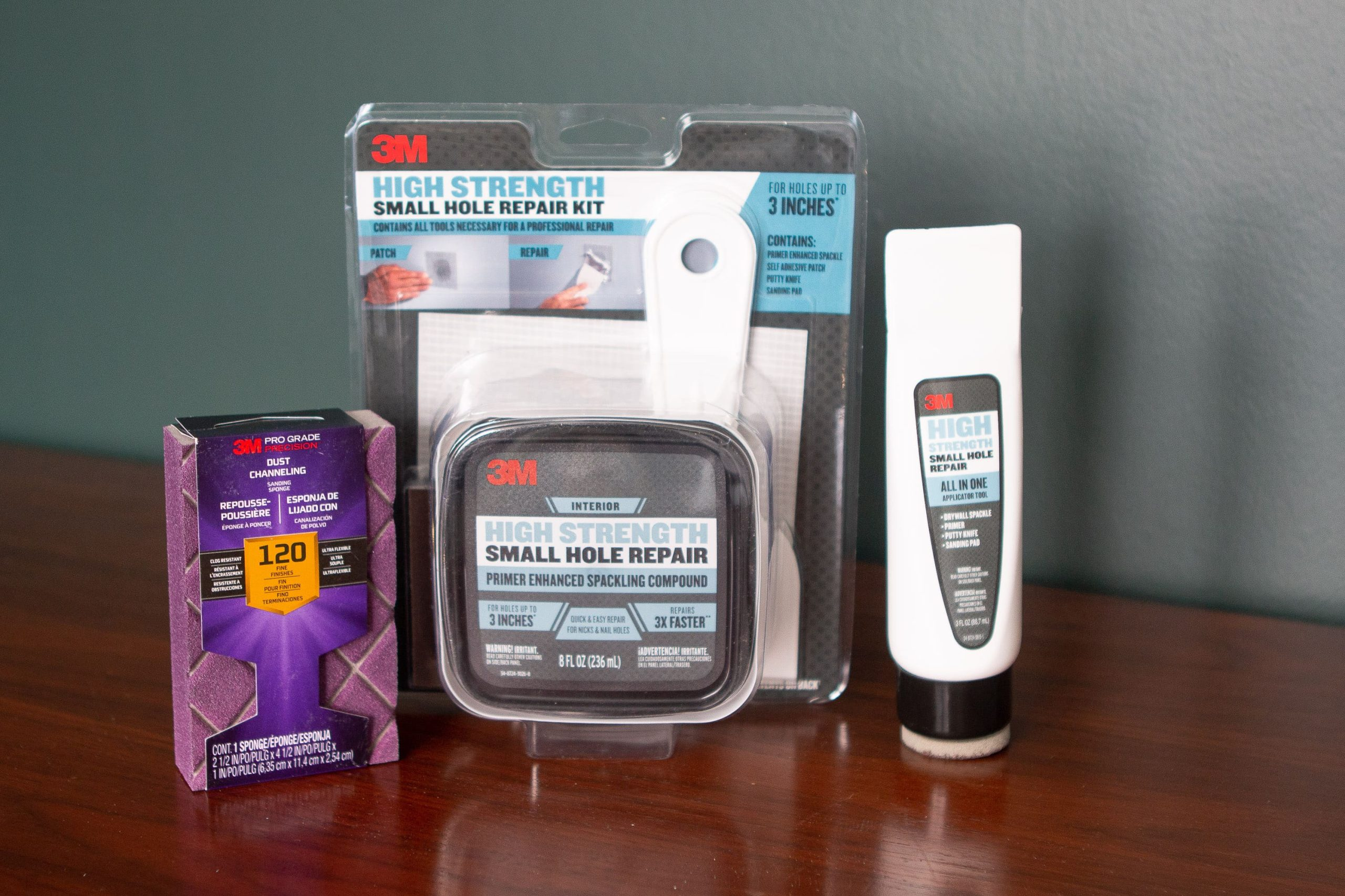 Supplies to fix small holes in drywall
