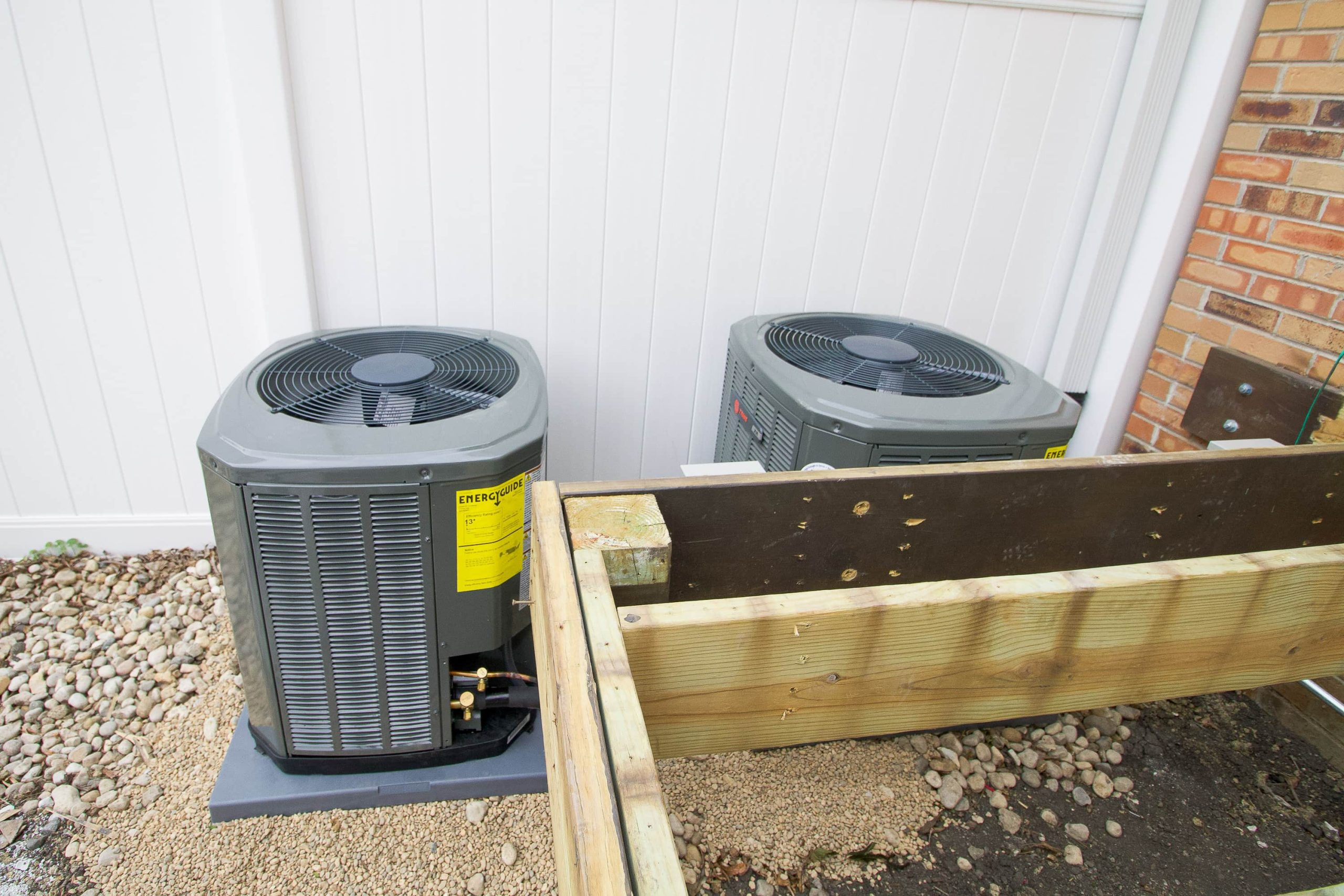 Air conditioner placement in our backyard