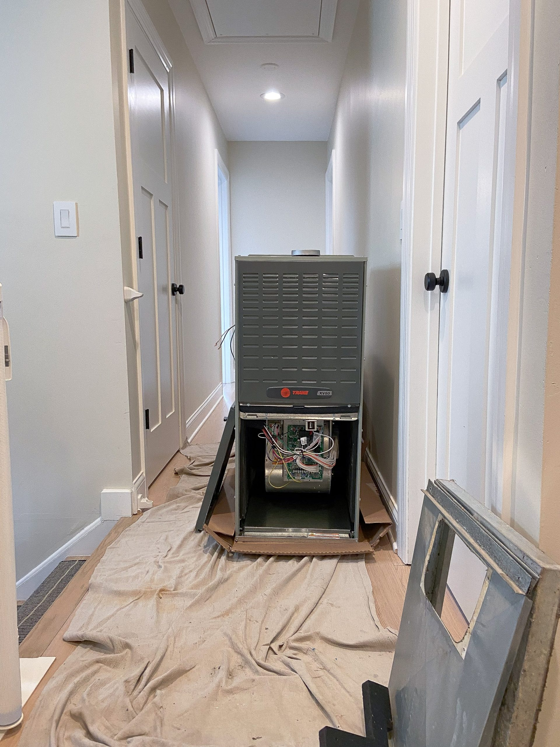 The installation process for our new hvac system