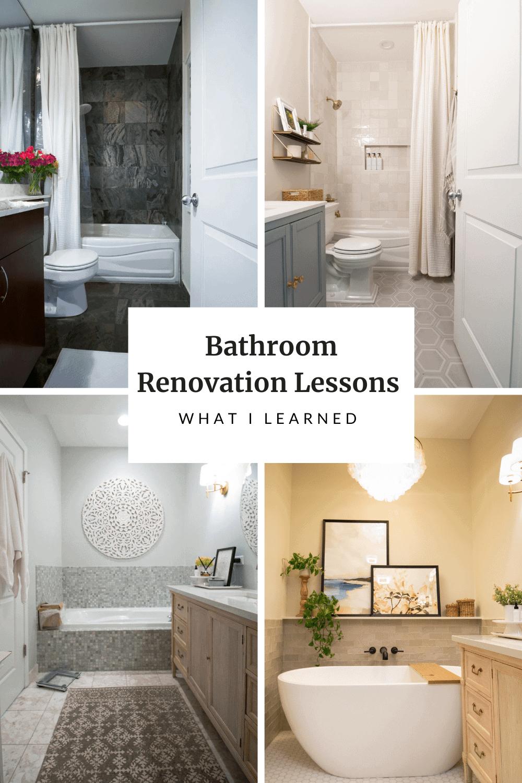 Bathroom Renovation Lessons