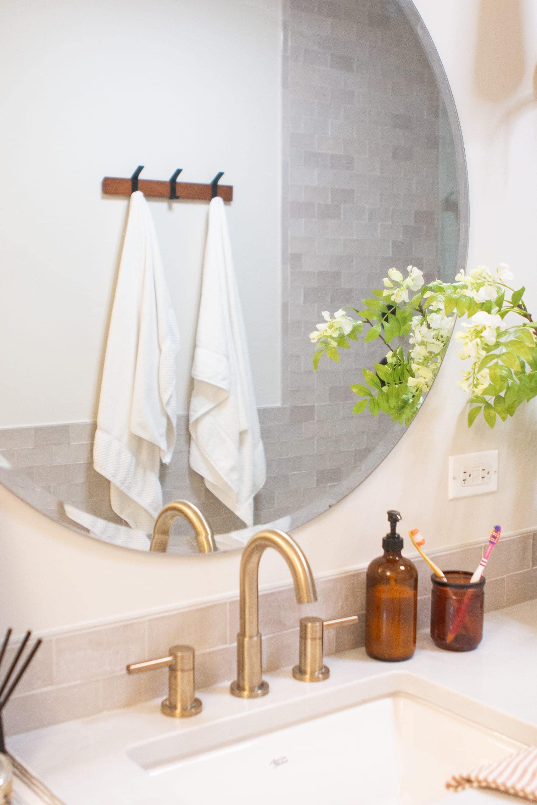 Sneak peek of my mom's main bathroom reveal