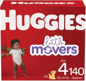 Diapers for our changing table
