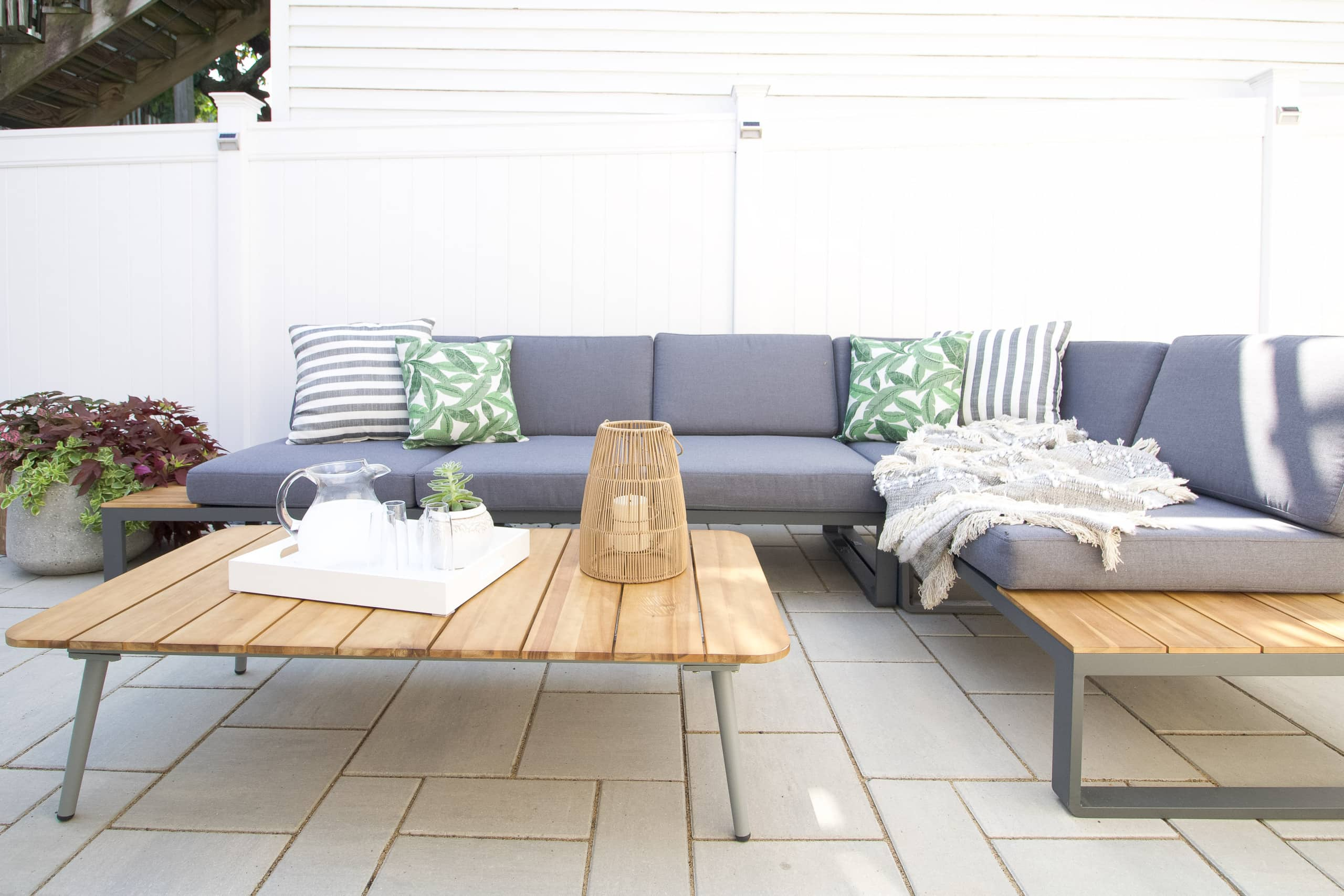 Our outdoor sectional on our new patio
