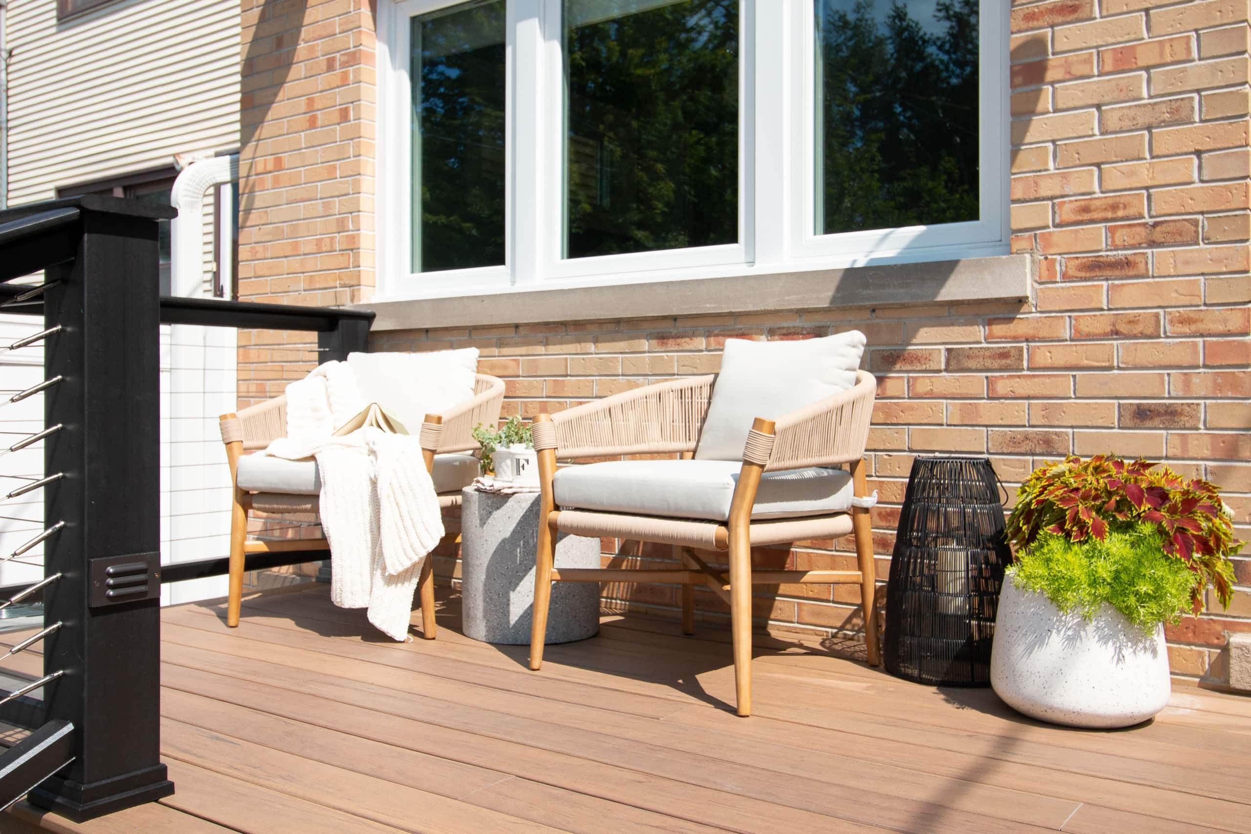 Buy covers for your outdoor furniture to protect from rain