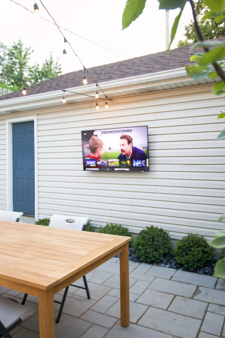 Our new outdoor TV