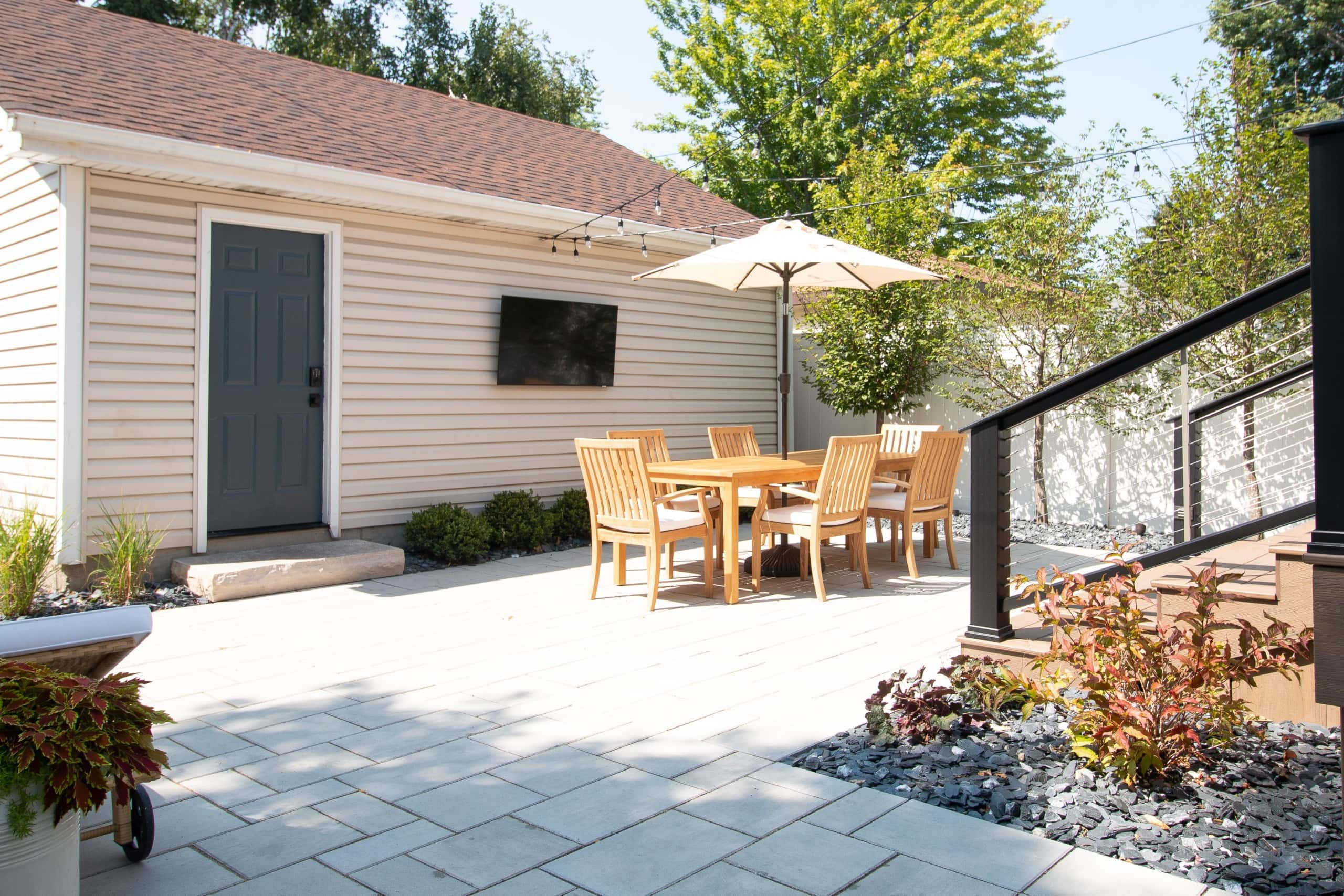 Adding stone to our back patio