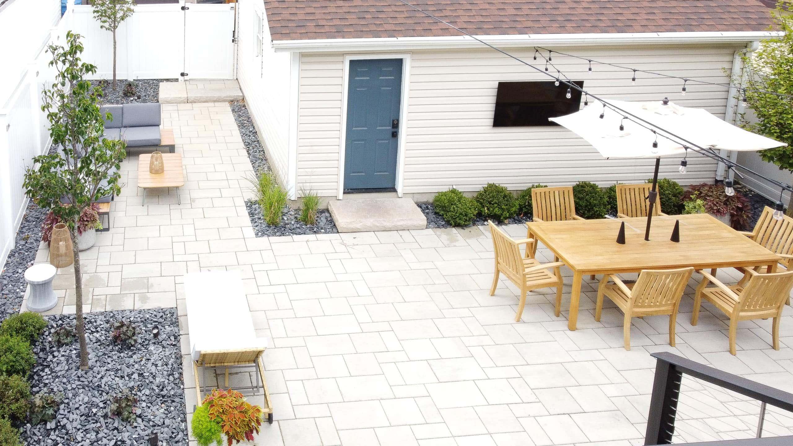 Adding stone to our backyard