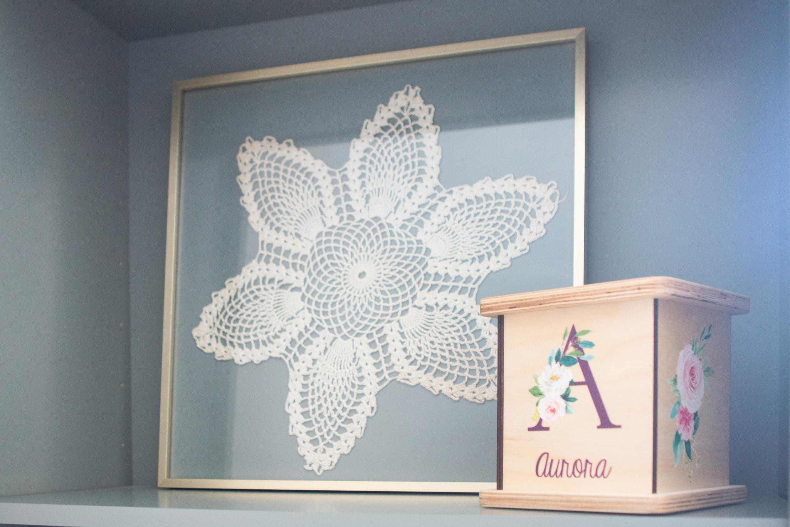 Rory's special snowflake art in her nursery