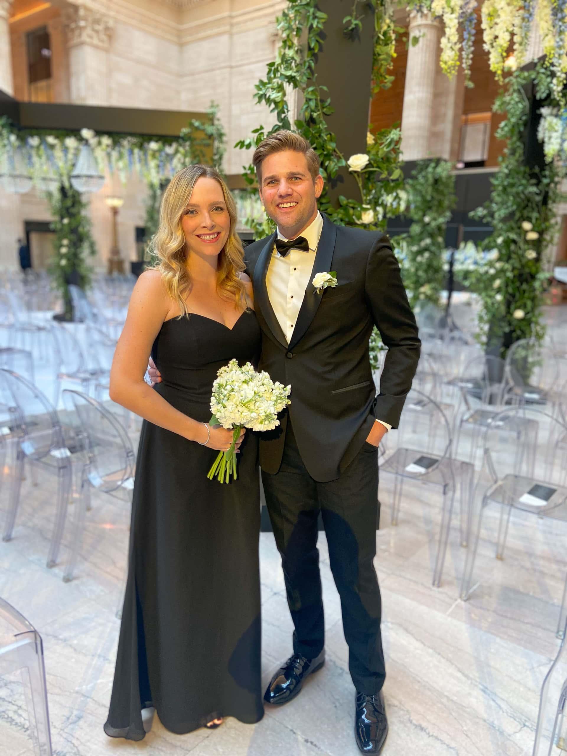 At Ryan & Sarah's wedding